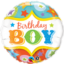 "Birthday Boy Circus Foil Balloon (18"") 1pc"